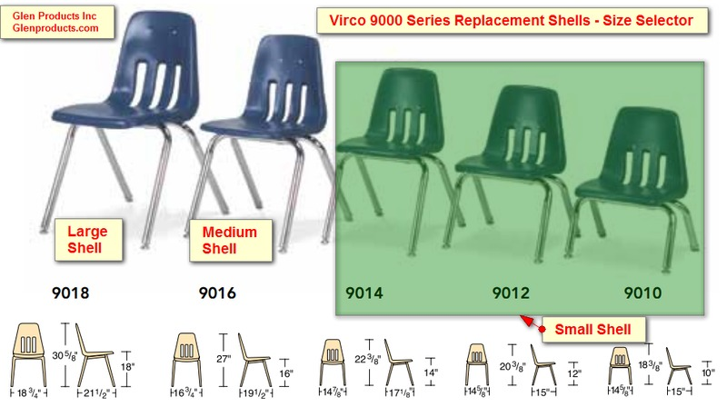 Model 9000 Chair Parts