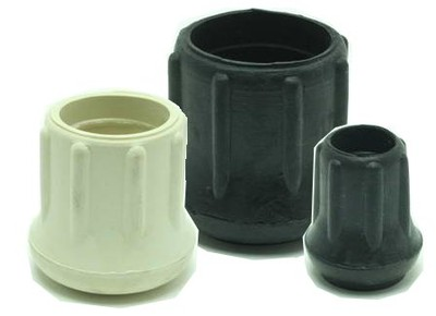 Ribbed Rubber Crutch Tips and Glides