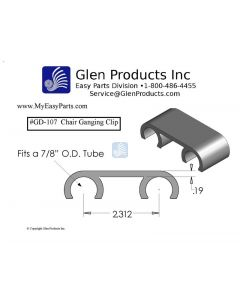 Chair Ganging Clip for 7/8 inch tube