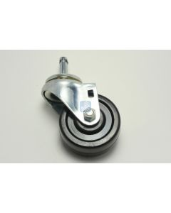 """Evan 3"""" x 1-1/4"""" Single Wheel Caster <br>7/16"""" x 1-1/2"""" Friction Ring - Furniture Parts"""