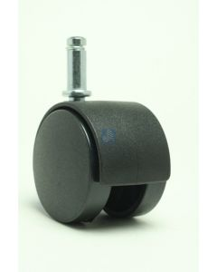 """2"""" Twin Wheel Caster<br>3/8"""" x 1"""" Friction Ring, Black"""