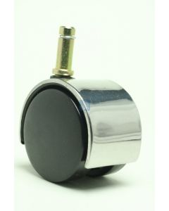 """2"""" Twin Wheel Caster<br>3/8"""" x 1"""" Friction Ring, Chrome"""