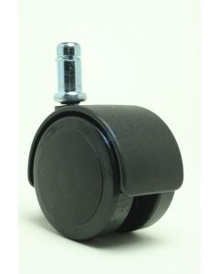 2in. Soft Twin Wheel Caster 7/16in. x 1in. Friction Ring Black