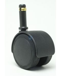 """2"""" Soft Twin Wheel Caster<br>7/16"""" x 1-3/8"""" Friction Ring, Black"""