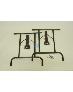 Heavy Duty Folding Table Legs - Set of 2 Brown Color